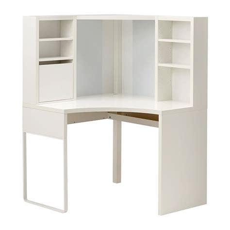 ikea bureau angle micke poste de travail d 39 angle blanc 100x141 cm ikea