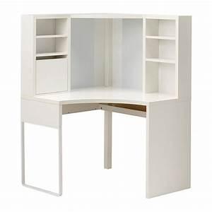 MICKE Poste De Travail D39angle Blanc 100x141 Cm IKEA