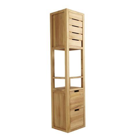 meuble rangement bois salle de bain maison parallele