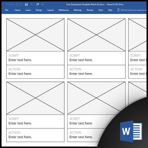 Template For Word by Free Storyboard Templates For Microsoft Word Docx