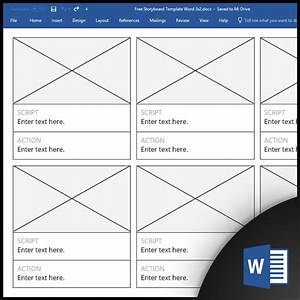 Free Storyboard Templates For Microsoft Word   Docx