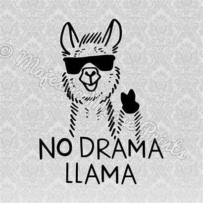 Llama Svg Drama Clipart Cut Funny Quotes