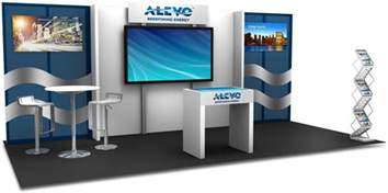 pipe and drape inline trade show displays apple rock trade show displays