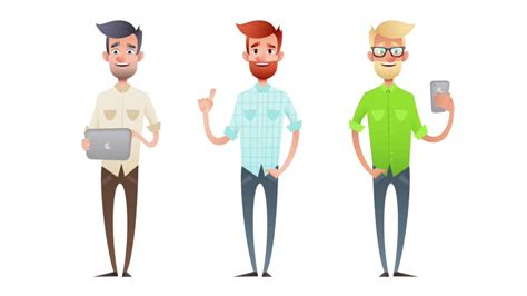 Creating Male Cartoon Characters In Adobe Illustrator
