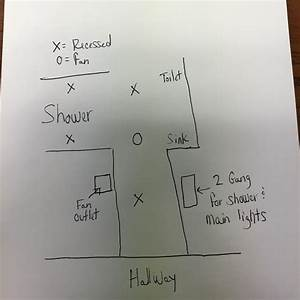 Electrical - How Do I Wire Multiple Switches For My Bathroom Lights And Fan