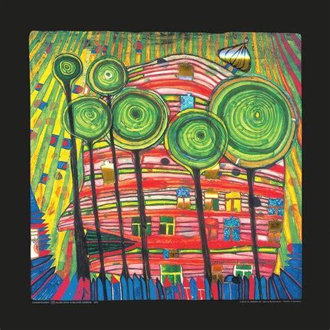 Bild Poster Bestellen by Hundertwasser Blobs Grow In Beloved Gardens Poster