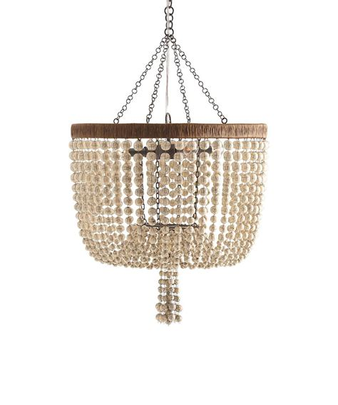 arteriors viola 4l iron ivory beaded chandelier lighting