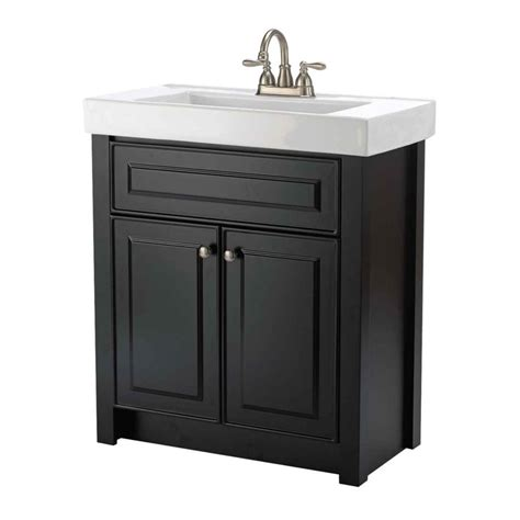 Bathroom Cabinet Home Depot by Keystone 30 Inch W Vanity Ensemble In Chocolate