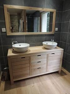 charmant salle de bain design avec meuble salle bain bois With salle de bain design avec meuble salle de bain suspendu bois