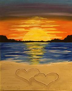 I am going to paint Romance On The Beach at Pinot's ...