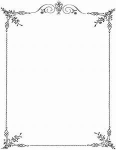 Elegant Page Border - Cliparts co