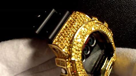 Custom Canary Sim. Diamond G Shock Z Shock Watch Lil Wayne