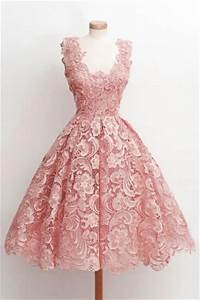 lace little pink dress for prom cocktail party xdl000y With robe rose cocktail