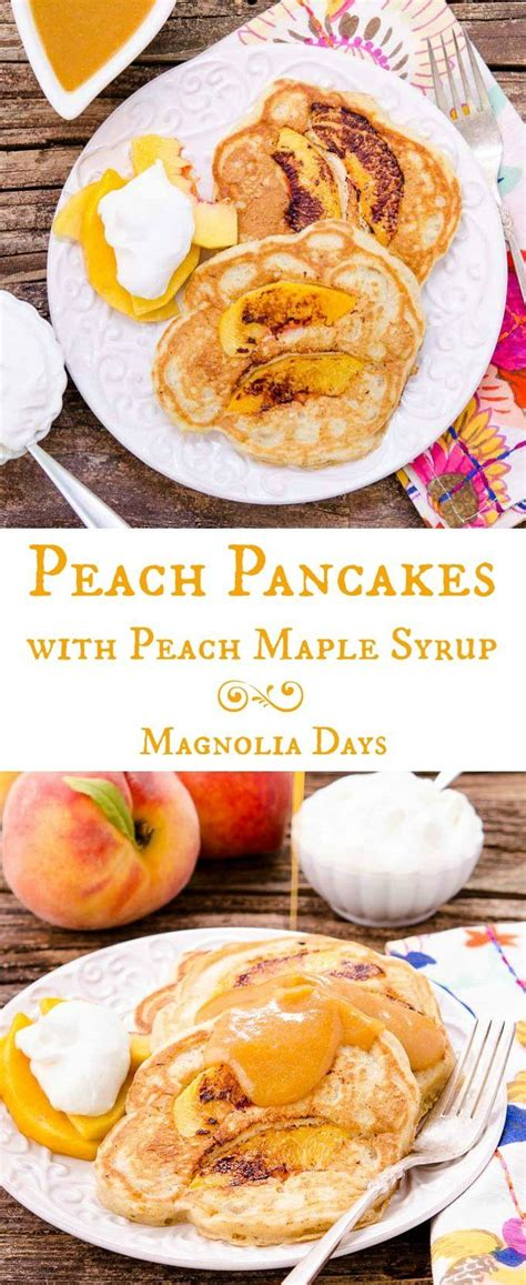 Peach Pancakes With Maple Syrup Recipe