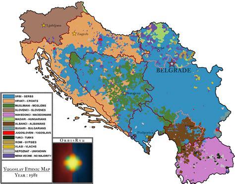yugoslavia ethnic map   orbisryu  deviantart