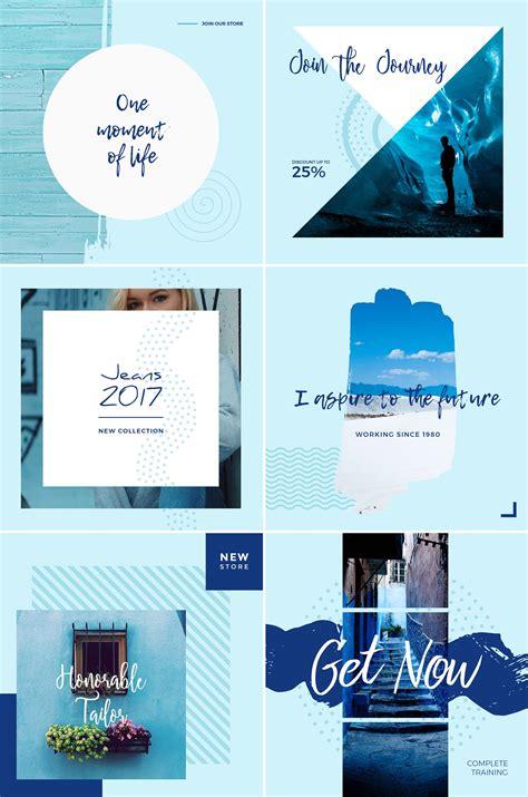Blue Sky Free Social Media Templates (PSD)