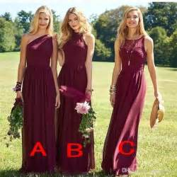 cheap burgundy bridesmaid dresses best 25 burgundy bridesmaid dresses ideas on burgundy bridesmaid merlot wedding