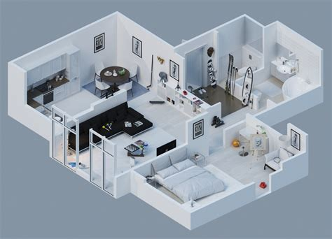 simple small apartment layouts ideas apartment designs shown with rendered 3d floor plans