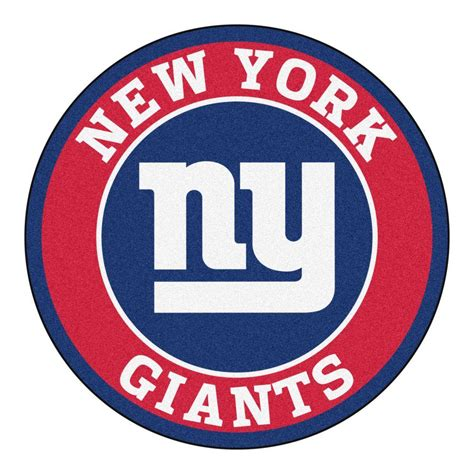 fanmats nfl new york giants red 2 ft 3 in x 2 ft 3 in round accent rug 17968 the home depot