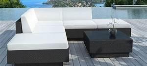 salon de jardin en resine tressee siesta With canape d angle exterieur resine 14 pouf de salon de jardin en resine tressee noire noumea