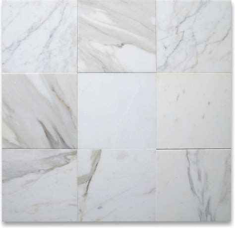 calacatta gold 12 x 12 tile honed marble from italy