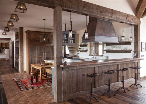 barnwood kitchen cabinets contemporary with burnished