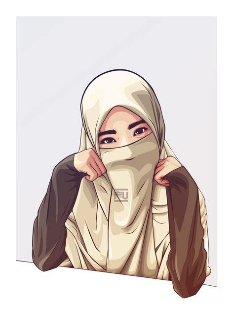 hijab vector niqab atahmadfu kartun