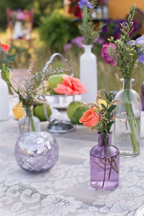 Add depth to your wedding table setting by using multiple