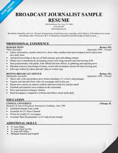 Journalism Resume Tips by Sle Resume For Journalist Sle Resume
