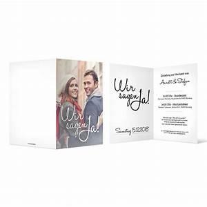 Einladungskarten Für Hochzeit : hochzeit einladungskarten din a6 klappkarte wir sagen ja ~ Yasmunasinghe.com Haus und Dekorationen