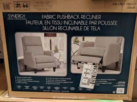 synergy home fabric pushback recliner