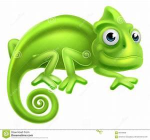 Cartoon Chameleon stock vector. Illustration of cute ...