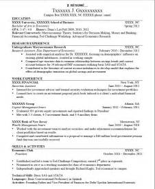 exle resume transfer college resume exles