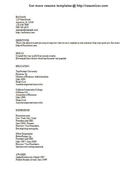 ascii text exle resume free resume creator