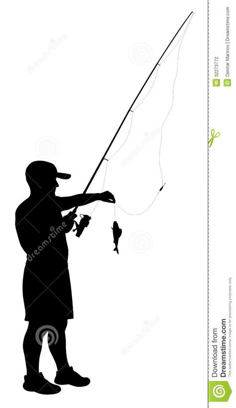 fisherman silhouette vector fisherman stock photography image 32273772