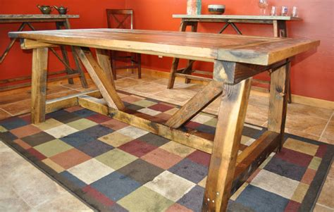 ana white rustic farmhouse table  distressed finish