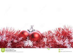 Red Glass Balls Decorative by Christmas Background With Red Ribbon And Balls Stock Image