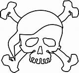 Skull Bones Coloring Pages Crossbones Printable Pirate Halloween Scary Sheets Pirates Theme Adult Characters Cars Sheet Paper Filminspector Clip Getcoloringpages sketch template