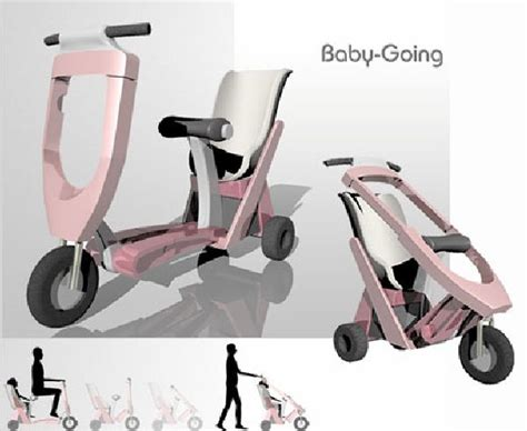 a cool baby stroller scooter invented by lottu tu