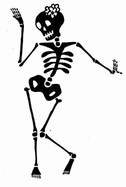 Skeleton Halloween Silhouette Vinyl Silhouettes Stencils Dancer