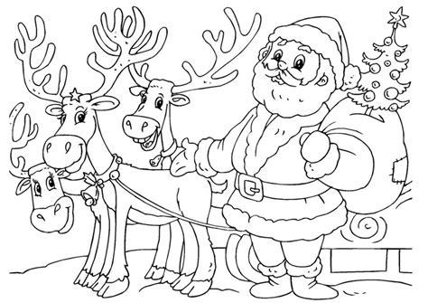 Kerstman Rendier Kleurplaat by Kleurplaat Kerstman Met Rendieren Afb 23062