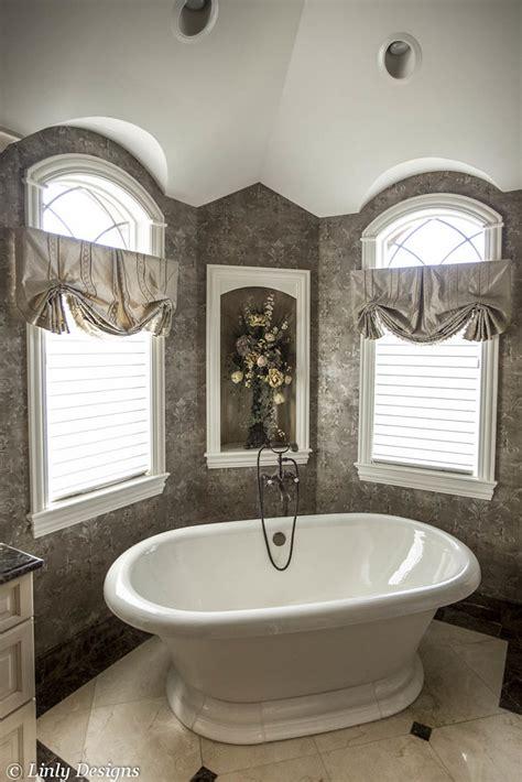 master bathroom custom window treatments  accessories
