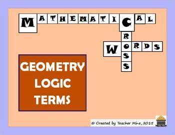 geometry logic terms crossword basic geometry