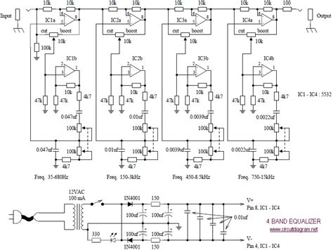 Band Equalizer Schematic Diagram Free Electronic