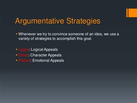 Argumentative Strategies Ethos, Pathos, Logos