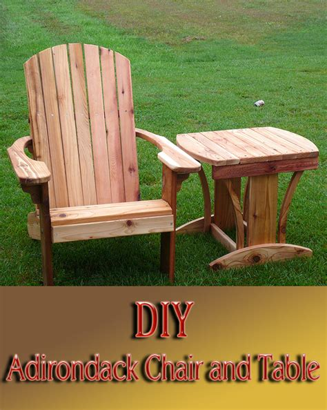 Diy  Adirondack Chair And Table  Quiet Corner