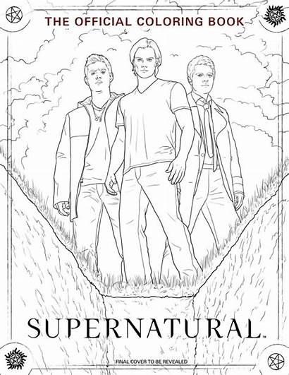 Supernatural Coloring Pages Dean Pop Adults Sam
