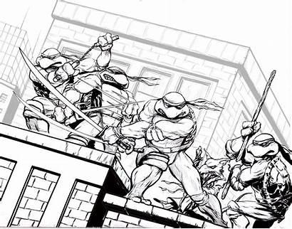Ninja Coloring Turtles Pages Mutant Turtle Teenage