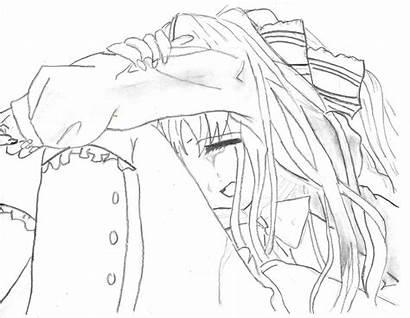 Sad Crying Anime Drawing Deviantart Tears Getdrawings