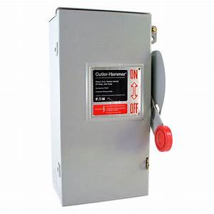 Cutler Hammer Heavy Duty Safety Switch 30 Amp Disconnect